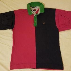 Tommy Hilfiger 90s VTG Long Sleeve Polo Shirt Sz M